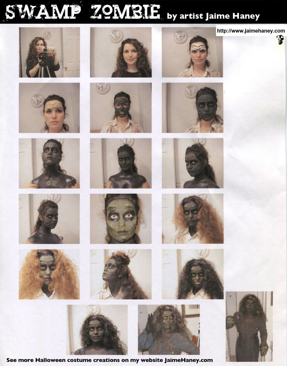 Swamp Zombie hair &  face makeup tuturial