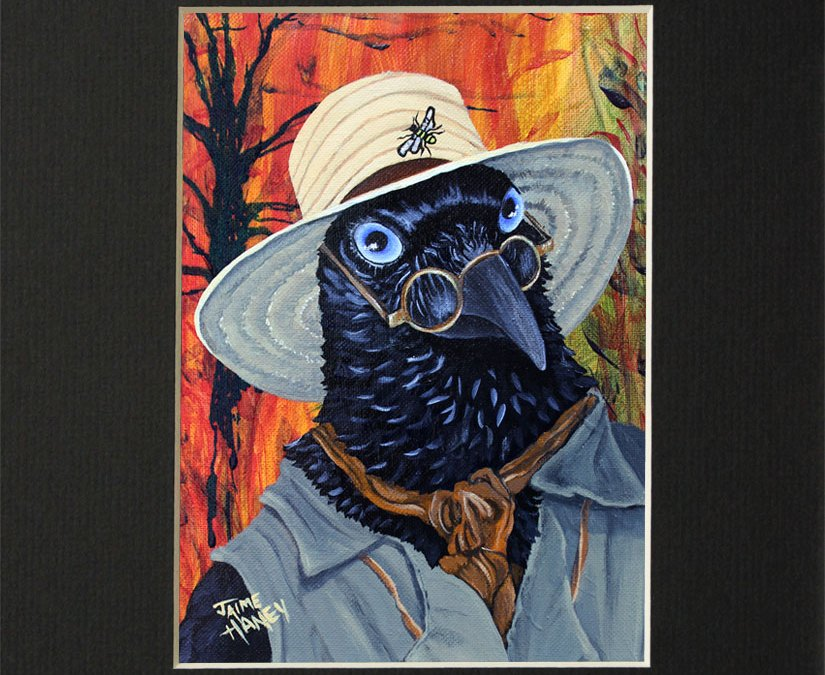 The Potter – raven matted print