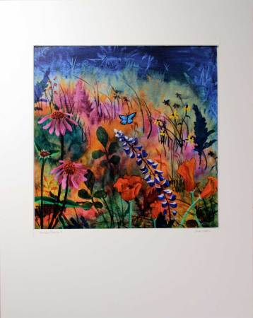 Wildflowers painting print titled Abundant Blessings 2