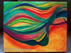 Canvas #2 of Mellifluous Wind, a triptych