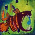 More than you bargained for Fish painting
