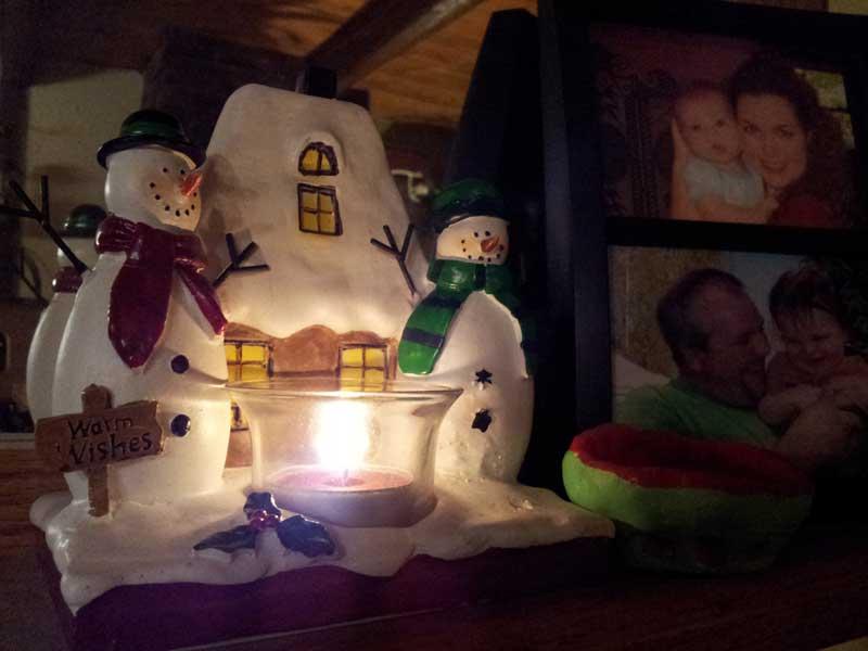 warm wishes snowmen candle holder