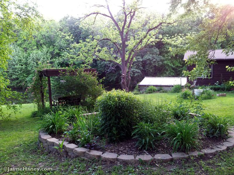 Round garden mid spring