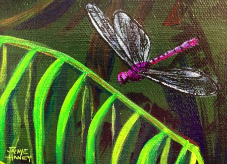 purple dragonfly close up