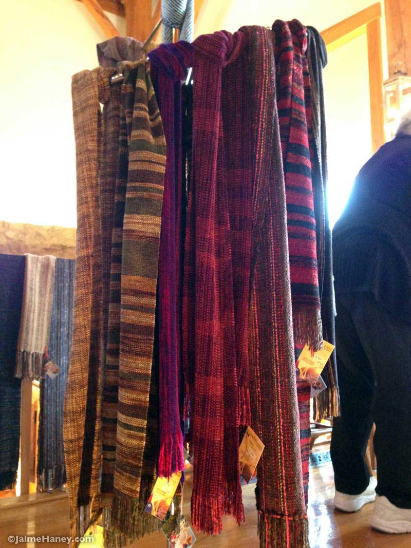 Carole Leonhardt's woven scaves