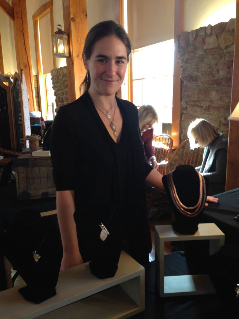 Sara Rappee, jewelry artist at Christmas in New Harmony