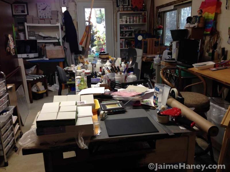 Art Studio needing a tidying up