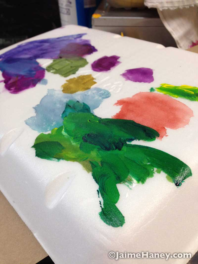 Mystical Mother Nature painting palette