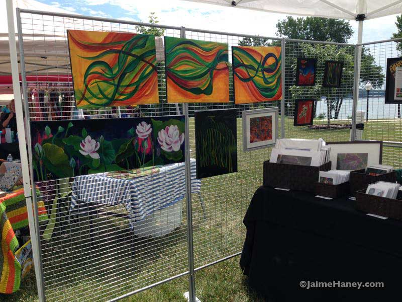 one of my inside walls of my art booth