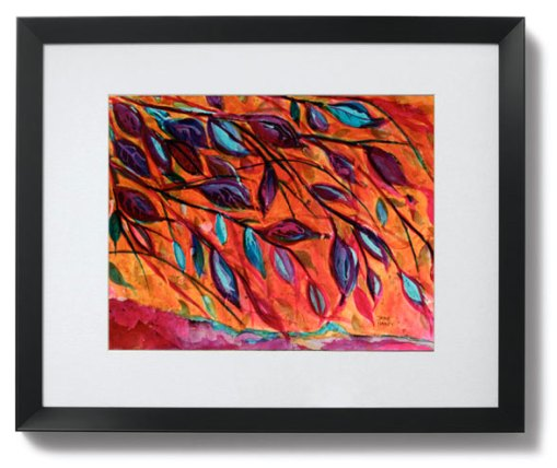 Underneath matted print shown in Black Tempo Frame
