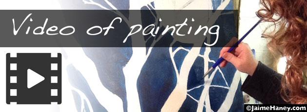 Green Man video – watch me paint!