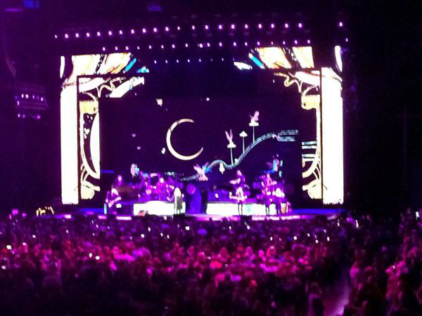 Stevie Nicks on stage during her 24K Gold Tour at Bankers Field House Stadium in Indianapolis, Indiana