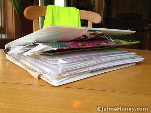 Bulging garden organization binder
