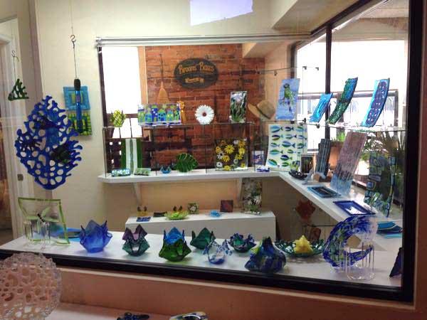 Glass art booth by NANCY WADELTON