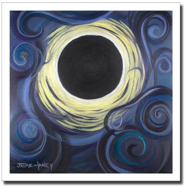 Luna Synchronicity - Solar eclipse giclee print