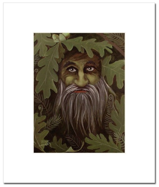 green man painting print