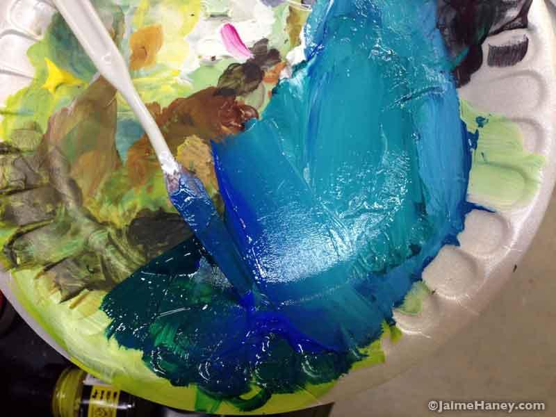 sea turtle paint palette