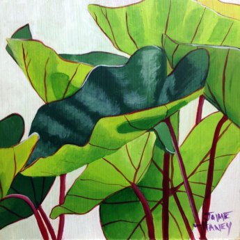 painting of elephant ears standing up