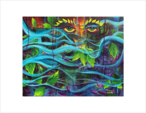 Mystical Mother Nature eyes economy print