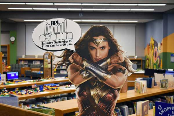 Wonder Woman cut out for Mini Con held in Alexandrian Public Library