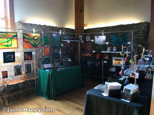 Paintings in my booth at Artisans Market