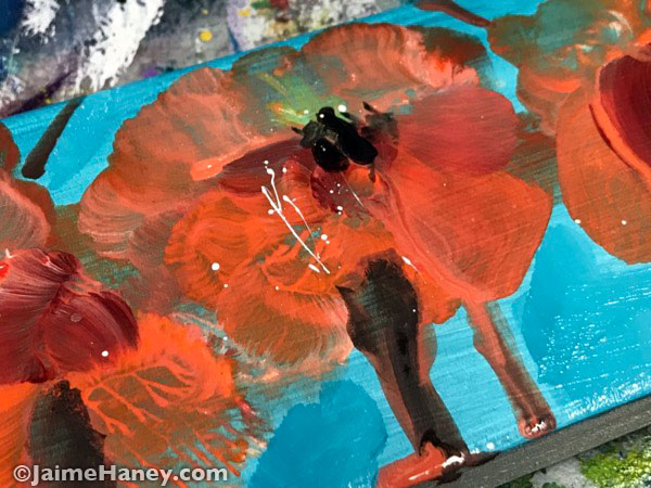 loosely painted poppy flower