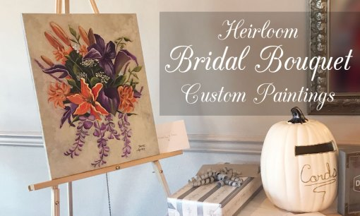 custom painted bridal bouquet commissions