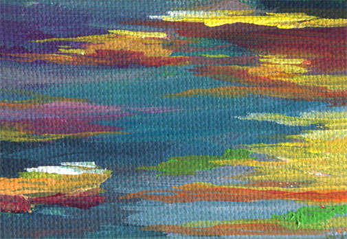 Sunset colors abstract painting