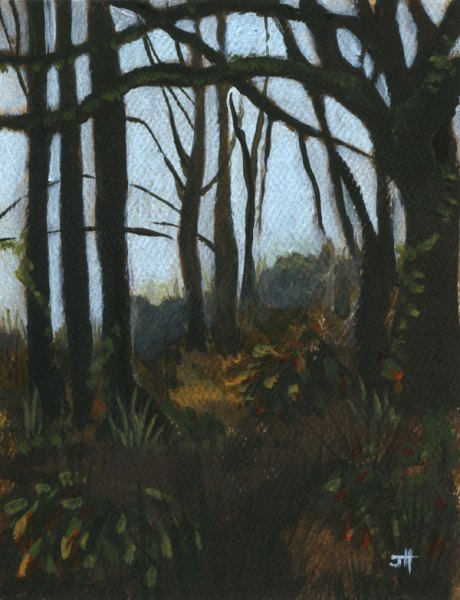 trees in late fall painting