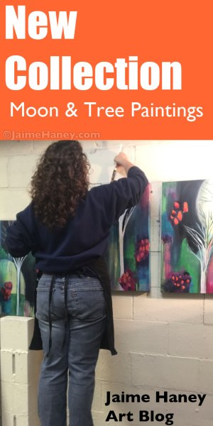 moon and tree paintings