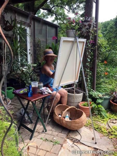 artist painting my garden