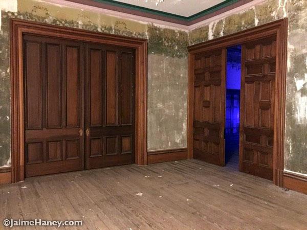 2 Sets of large wooden pocket doors