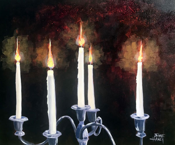Seance by Candlelight painting