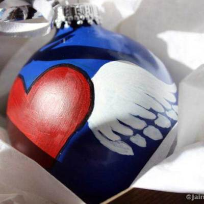 Winged Heart ornament