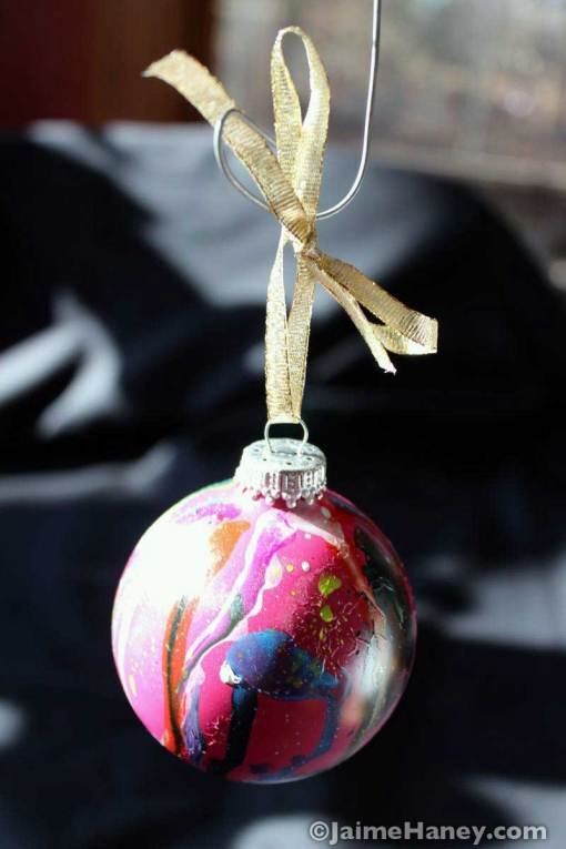 Pink No. 2 pink graffiti style ornament hanging