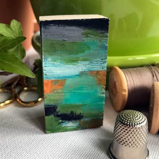 front of miniature art