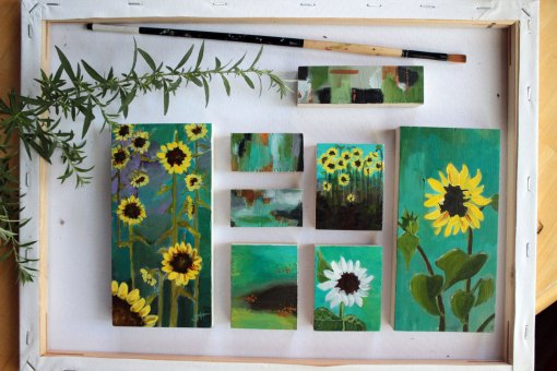 The Sunflower Collection of Art blocks