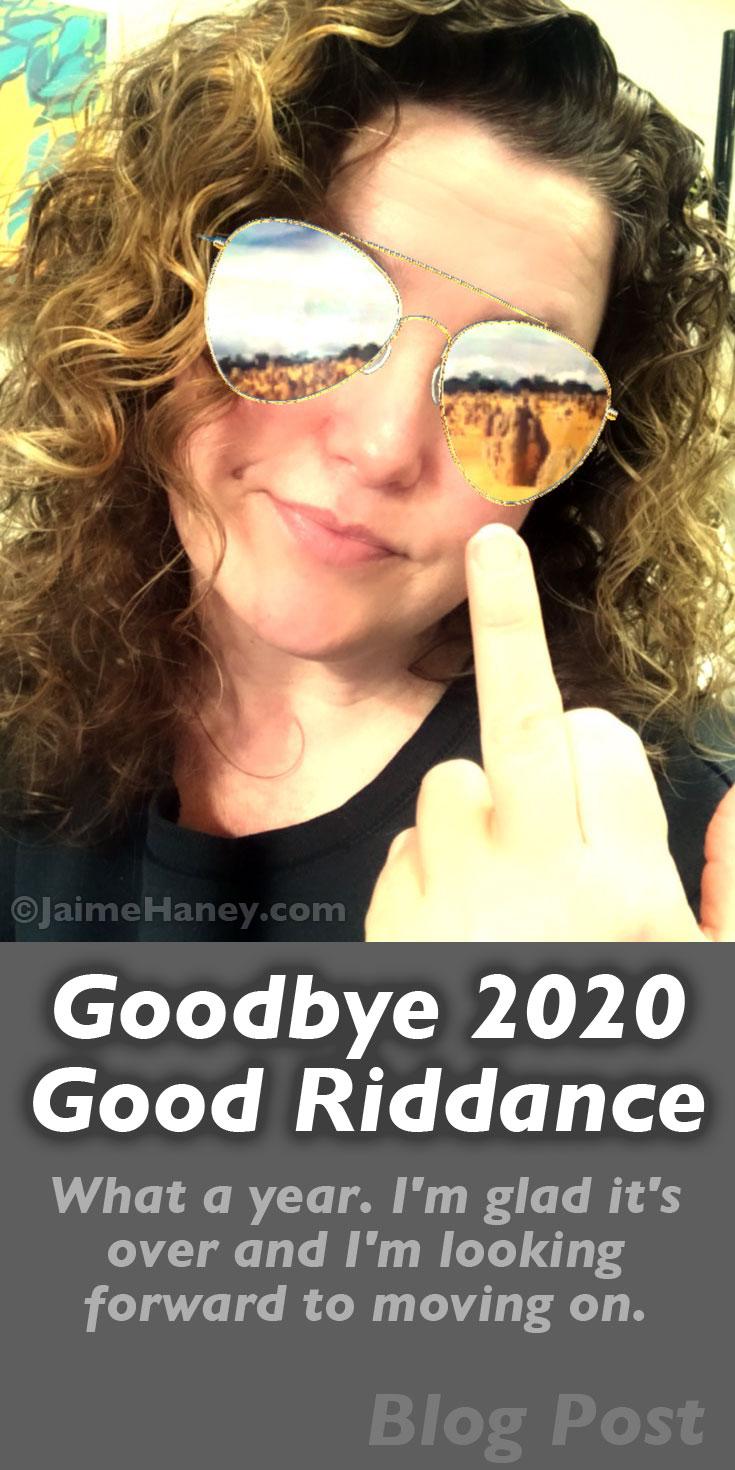 Flipping 2020 off