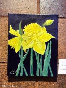 yellow daffodils painting