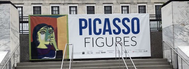 Picasso Figures signage at Frist art museum