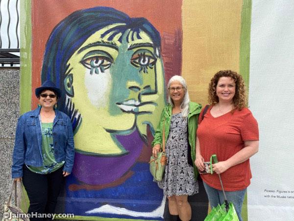 Picasso Exhibit sign