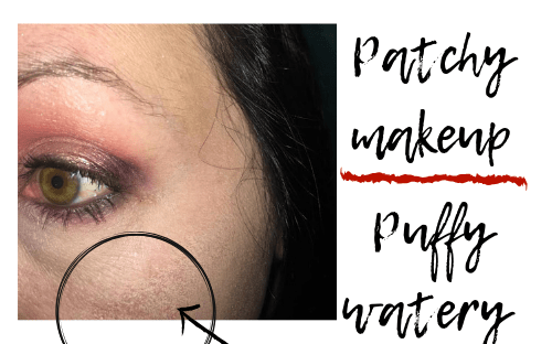 photo of reaction to makeup products