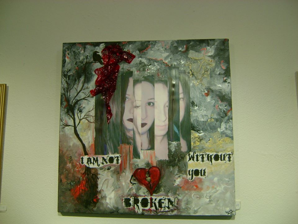 using art to cope not broken painting