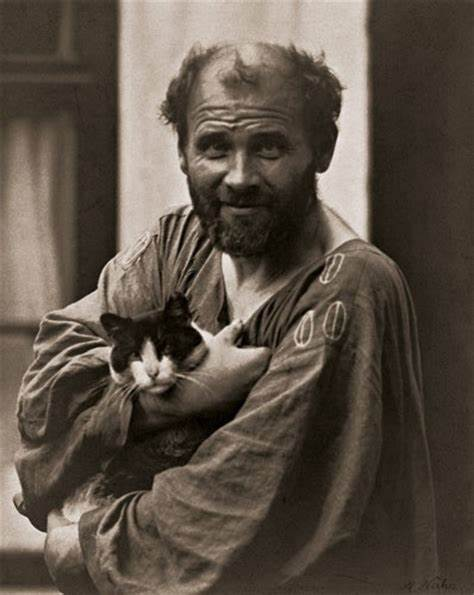 gustav klimt and cat