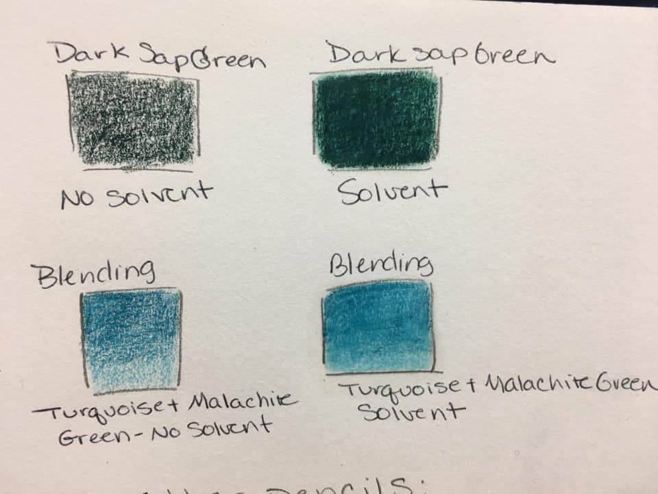 blue colored pencil blending