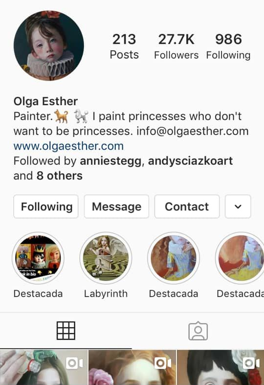 olga esther instagram artist