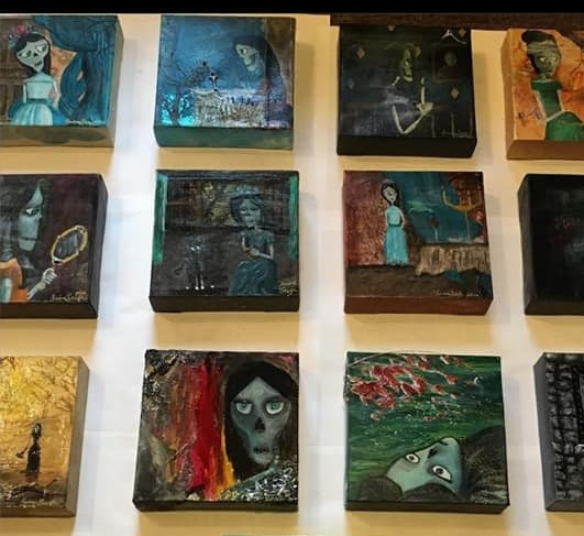 Skull paintings