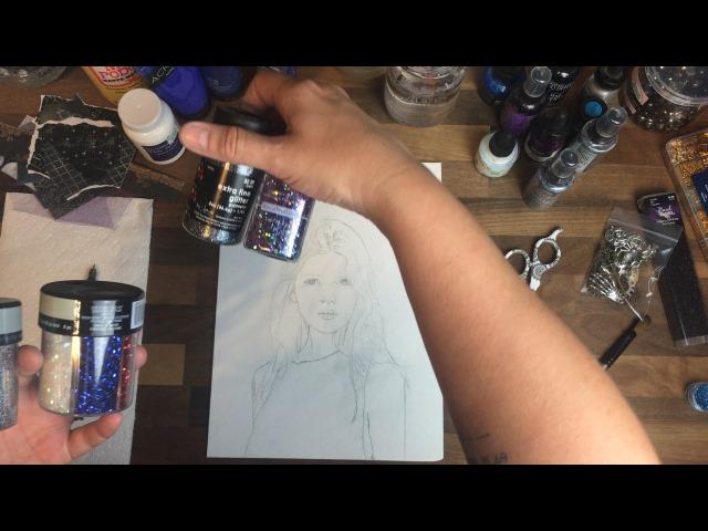 art tutorial Glitter