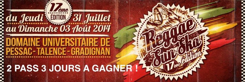 Jeu concours - 2 Pass 3 jours pour le festival Reggae Sun Ska à gagner !