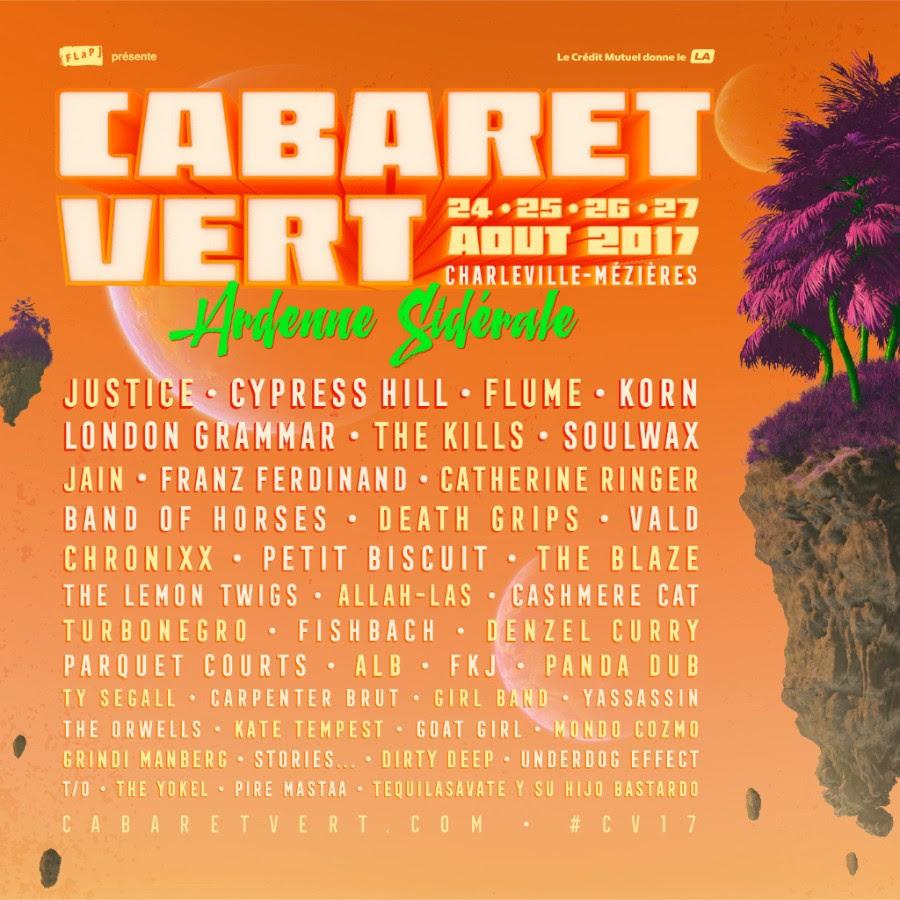Cabaret Vert 2017 : programmation complète pour l'aventure sidérale !